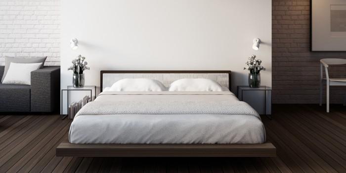 stelaż do łóżka - przykładowa sypialnia